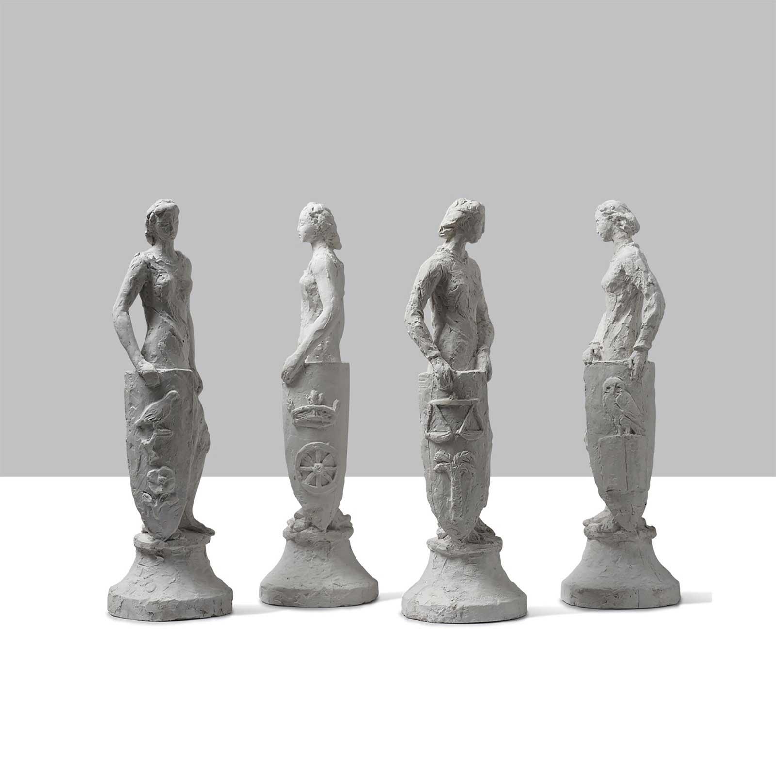 4 sculptures,. France - 1930