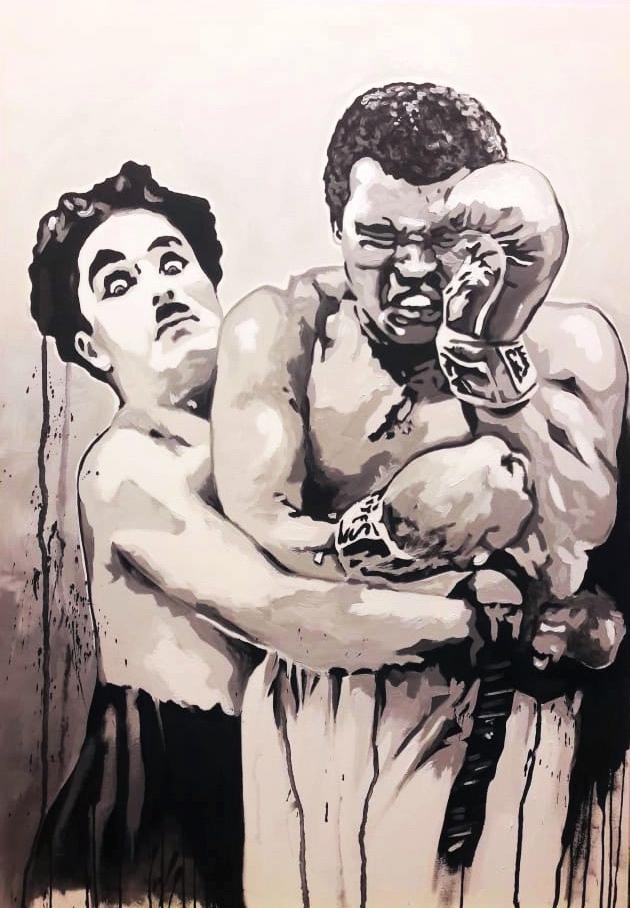 Charlie chaplin et mohamed Ali