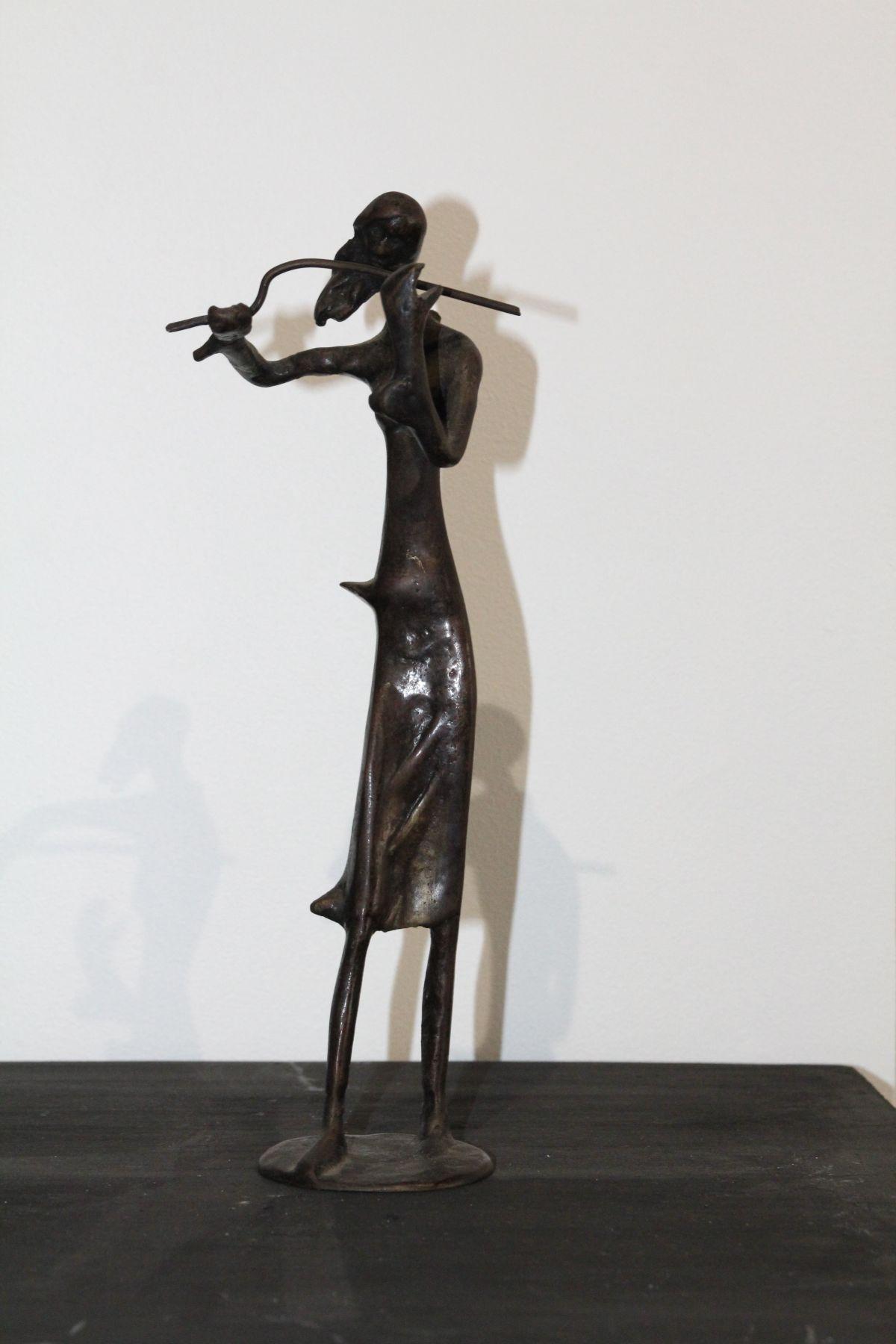 Sculpture musique en bronze